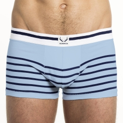 ice blue trunk navy stripes
