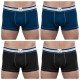 4 navy and black trunks